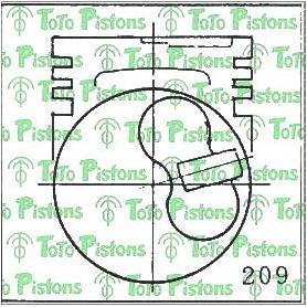 Pistons - jeu cote STD  pour Toyota Hilux 5