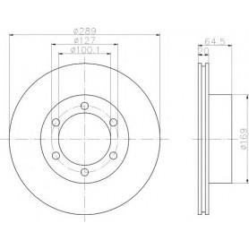 Disque de frein pour Toyota Hilux LN166 2.8D